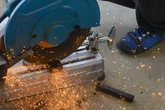 Circular fiber blade sawing machine royalty free stock image