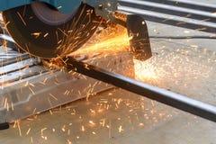 Circular fiber blade sawing machine stock photos