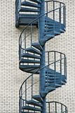 Circular fire escape Royalty Free Stock Photography