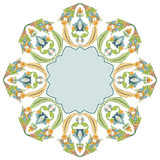 Circular floral background four. Series of patterns designed by taking advantage of the former Ottoman Royalty Free Stock Photography
