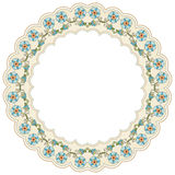 Circular floral background one. Series of patterns designed by taking advantage of the former Ottoman Stock Image