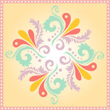 Circular floral background pattern Stock Photography