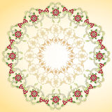 Circular floral background. Series of patterns designed by taking advantage of the former Ottoman Stock Image