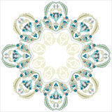 Circular floral background three. Series of patterns designed by taking advantage of the former Ottoman Royalty Free Stock Photo