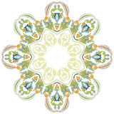 Circular floral background two. Series of patterns designed by taking advantage of the former Ottoman stock illustration