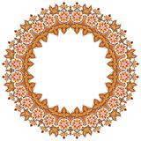 Circular floral frame Stock Images