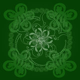 Circular floral green background. Tissue or scrapbooking Stock Photography