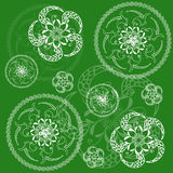 Circular floral green background. Tissue or scrapbooking Royalty Free Stock Photos