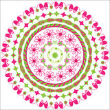 Circular floral ornament Royalty Free Stock Images
