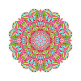 Circular floral ornament in east style. Round Pattern Mandala fo Royalty Free Stock Photo