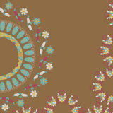 Circular floral ornament, vector  illustration Stock Photography