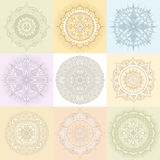 Circular Floral Ornament Template For Tattoo  or Else Royalty Free Stock Image