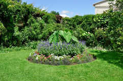 Circular flower bed Stock Image