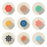 Circular Flower Icon for Design and Creative Work and Decor in W Royalty Free Stock Images
