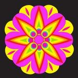 A circular flower ornament Royalty Free Stock Photos
