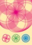 Circular flower vector. Eps vector flower symmetrical color Stock Photography