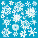 Circular form of art. Image of symmetrical snowflakes and circular form of art Stock Illustration