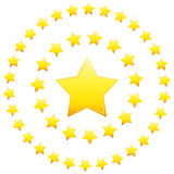 Circular Formation Stars. An image of a stars in a circular formation Royalty Free Stock Images