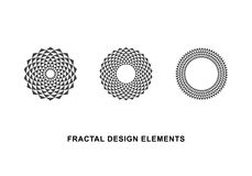 Circular Fractal Design Elements vector illustration
