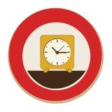 Circular frame with alarm clock Royalty Free Stock Photos