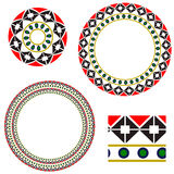 Circular frame with elements of national Ukrainian embroidery Royalty Free Stock Images