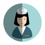 Circular frame with female nurse Royalty Free Stock Image