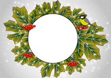 Circular frame of leaves Stock Images