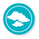 Circular frame with silhouette set clouds icon. Vector illustration Royalty Free Stock Image