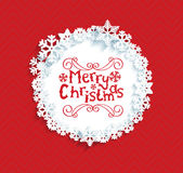 Circular frame with the snowflakes. Royalty Free Stock Image