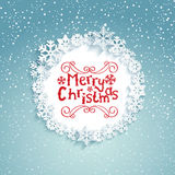 Circular frame with snowflakes. Royalty Free Stock Image