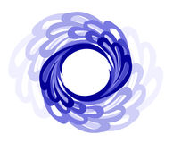 Circular frame. Style of water. Round style frame is made of water s vector illustration