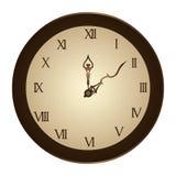Circular frame with wall clock Royalty Free Stock Photo