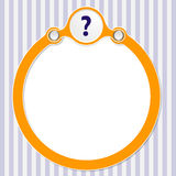 Circular frame Royalty Free Stock Photography