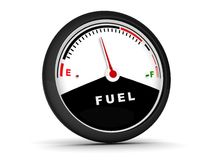 Circular fuel gauge Royalty Free Stock Images