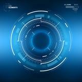 Circular futurista HUD Element da ficção científica imagem de stock