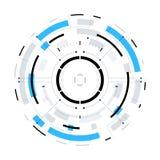 Circular futurista HUD Element da ficção científica Foto de Stock Royalty Free