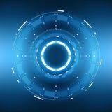 Circular futurista HUD Element de la ciencia ficción Imagen de archivo