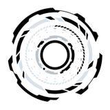 Circular futurista HUD Element de la ciencia ficción Foto de archivo libre de regalías
