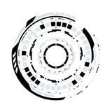Circular futurista HUD Element de la ciencia ficción Imagenes de archivo