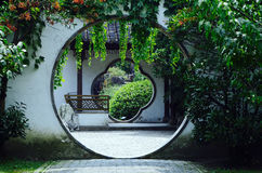Circular gate. The traditional chinese circular gate is very beautiful Stock Image