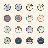 Circular gauges icons set. Vector Flat design Royalty Free Stock Image