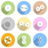 Circular Gear Wheels Icons Stock Image