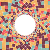 Circular geometric background with rhombuses. Royalty Free Stock Image