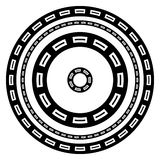 Circular geometric borders frames with rectangular print. Royalty free vector illustration Stock Photo