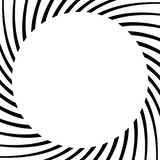 Circular geometric element of radial spokes, lines. Abstract bla Stock Photography