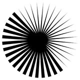Circular geometric element of radial spokes, lines. Abstract bla Royalty Free Stock Photography