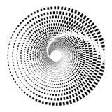 Circular geometric motif. Abstract grayscale op-art element Stock Image