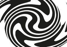 Circular geometric motif. Radiating shape. Geometric radial element. Abstract black and white illustration Stock Images