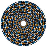 Circular Geometric Native Background. Geometric backround reminding of Maya, Aztec and Inca cultures, as well as M. C. Escher Royalty Free Stock Photos