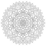 Circular geometric ornament. Round outline Mandala for coloring page Stock Photography